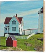 Nubble Lighthouse II Wood Print