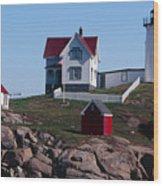 Nubble Point Lighthouse Wood Print