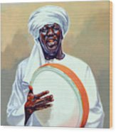 Nubian Musician Player Playing Duff Wood Print