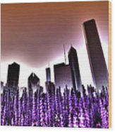 Nuclear Chicago Skyline Wood Print