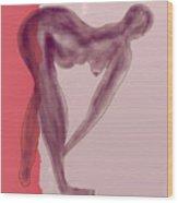 Nude 09 Wood Print