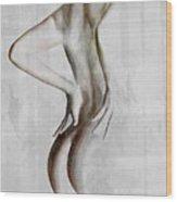 Nude Abstract Greys 2 Wood Print