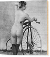 Nude And Bicycle, C1885 Wood Print