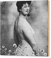 Nude And Flowers, 1903 Wood Print
