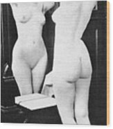 Nude And Mirror, 1902 Wood Print