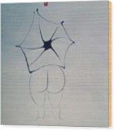 Nude And Umbrella Wood Print
