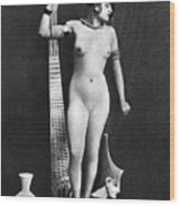Nude As Ancient Egyptian Wood Print