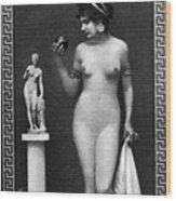 Nude As Aphrodite, C1900 Wood Print