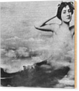 Nude As Mermaid, 1890s Wood Print