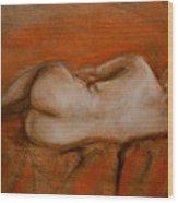 Nude Ballerina  Wood Print