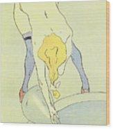 Nude Bathing Wood Print