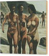 Nude Beach Wood Print