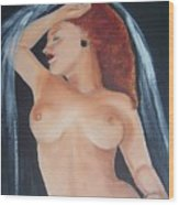 Nude Bride Wood Print