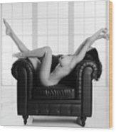 Nude Chair Wood Print