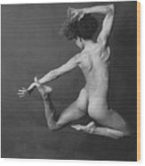 Nude Dancer Wood Print