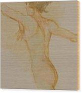 Nude Dancer Wood Print