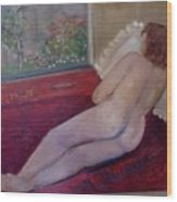 Nude- Derriere 1 Wood Print