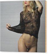 Nude Fashion Wood Print