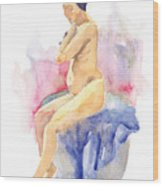 Nude Female 15 Wood Print