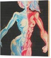 Nude Female Sketch 27 Wood Print