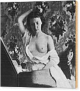 Nude Fixing Hair, C1861 Wood Print