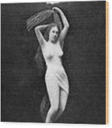 Nude Floating, 1890s Wood Print