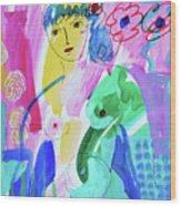 Nude, Garden Of Eden Wood Print