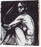 Nude Girl 1 Wood Print