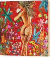 Nude Girl 3 Wood Print