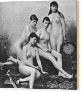 Nude Group, 1889 Wood Print