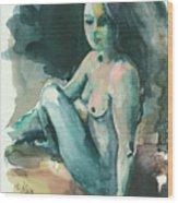 Nude I Wood Print