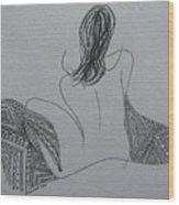 Nude II Wood Print