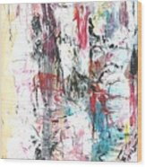 Nude In Abstract Wood Print