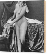 Nude In Bonnet, C1885 Wood Print