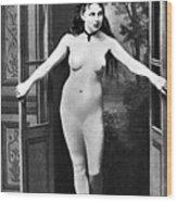 Nude In Doorway, C1865 Wood Print