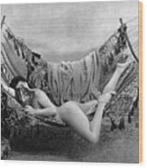 Nude In Hammock, C1885 Wood Print