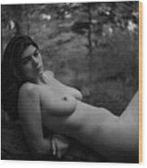Nude In Nature 3 Wood Print