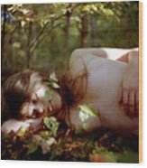 Nude In Nature 4 Wood Print