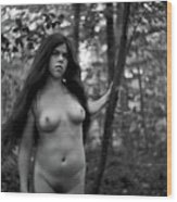 Nude In Nature 5 Wood Print