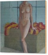 Nude In North Light Copyrighted Wood Print