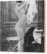 Nude In Stockings, C1880 Wood Print