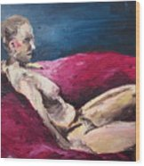 Nude In The Style Of Rembrandt Wood Print