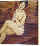 Nude In The Woods Wood Print