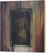 Nude In Vintage Wood Print