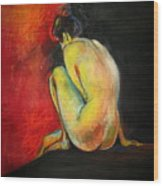 Nude- Introspection Wood Print