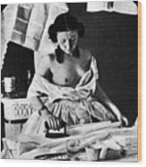 Nude Ironing, C1861 Wood Print