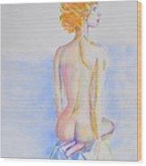 Nude Lady Wood Print