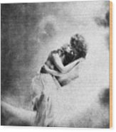 Nude Love Scene, 1890s Wood Print
