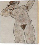 Nude Lying Down Wood Print