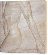Nude Male Strolling Wood Print